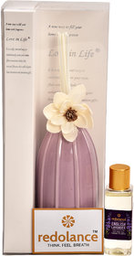 redolance scented reed diffuser lavender oil 50ml ceremic pot purple colour LBH (INC) Diffuser Set