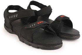 RNT Black Sandal For Men