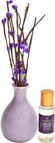 redolance scented reed diffuser LAVENDER oil 30ml ceremic pot PURPLE colour LBH (INC) 2.5x2.5x4 for home, office and spa