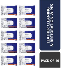 Vetro Power Leather Cleaning and Restoration Wipes - Pack of 10