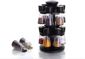 Rushilwere Spice Rack Polycarbonate Spice Container Set Of 12