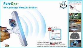 PureOne UVc Sanitizer Wand plus Air Purifier