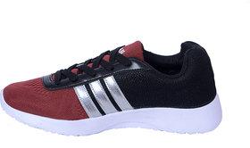 Clymb Men's Maroon  Running Shoes
