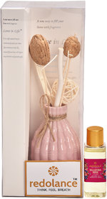 redolance rose reed diffuser 100ml for office, room  decorative ceramic pot