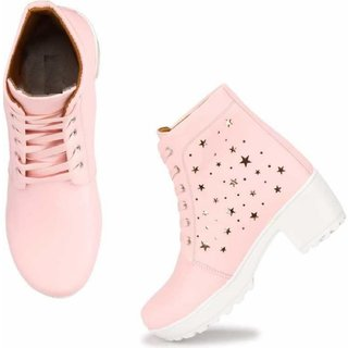 Banjoy Stylish High Ankle Boots For Women