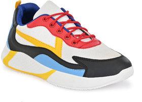Bucik Men Fly Knit Multi Lace-up Sneakers Shoes