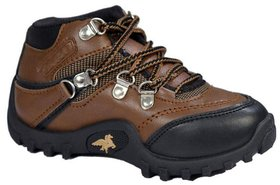 Onbeat Casual Brown Boots For Kids