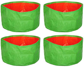 NutriMax HDPE 200 GSM Plant Growbag 12 Inch x 9 Inch Pack of 4
