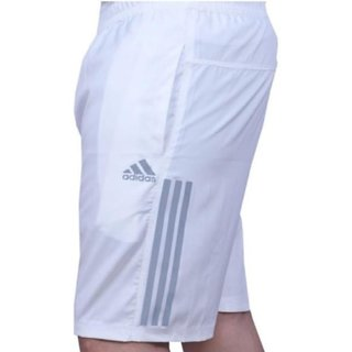 A'Didas Men'S White Stripped Running Polyester Shorts For Boys