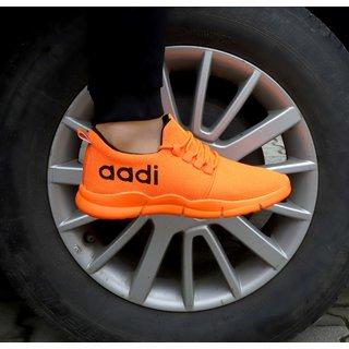 Aadi Men's Orange Mesh Sports Running Shoes