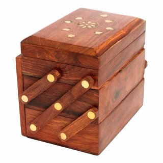 National Handicrafts Handmade Rosewood Jewelry Box for Women