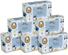Mirah Belle - Organic Goat Milk Baby Soap Bar 125 gm (Pack of 6) - Sensitive  Baby Skin. Fragrance Free. Unscented.