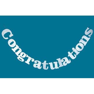 Hippity Hop Congratulations Glitter Letter Cutouts Banners / Bunting On Card Stock For Life Events