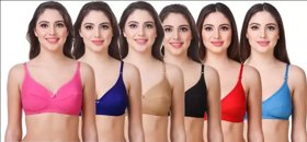 Cotton Bra Multicolor Pack of 6 Combo FQS Product