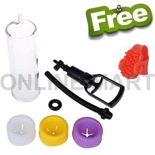 original Imported Vacuum Cupping Male ling Developer Pump / Orgain developer set