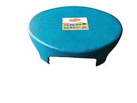 Shreeji Plastic Oval Shape Bathroom Stools (Blue)