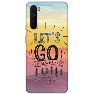 OnHigh Designer Printed Hard Back Cover Case For OnePlus Nord, Let's Go Somewhere