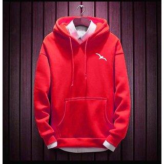 Stylogue Men's Red Hooded Sweatshirts