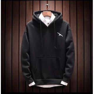 Stylogue Men's Black Hooded Sweatshirts