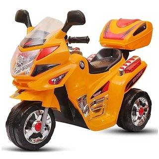 Baby Battery Operated Bike With Musical Sound And Back Basket 3-Wheel  Battery Operated Ride On Bike