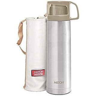 Milton Glassy Flask 1000Ml Vacuum Flasks - Grey