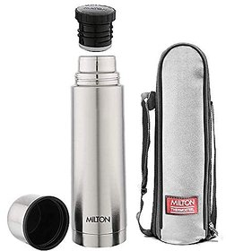 Milton Flip Lid 1000 Thermosteel 24 Hours Hot And Cold Water Bottle 1000 Ml Silver