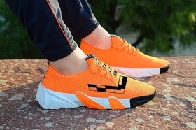 Spain Style orange Smart casual sports shoes For Men's