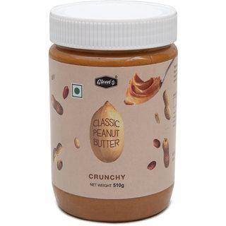 Gleenz Classic Peanut Butter Creamy 500 gm, 30 Protein, Unsweetened, Gluten Free
