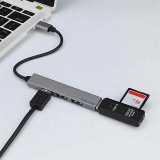 T 809B USB 3.1 HUB 4 Ports USB C Type C Hub Splitter USB Adapter  Grey  Hubs   Card Readers