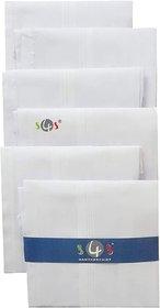 FASHLOOK PACK OF 6 MEN'S HANDKERCHIEF (WHITE)