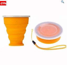 Portable Folding Glass Collapsible Water Bottle Silicone Outdoor Travel Telescopic Retractable Water Cup Glass Bowl With