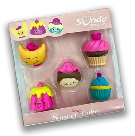 Shoppers Stoppers Cake Shaped Eraser Gift for Kids