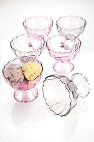 COLLISION Ice Cream Bowls with Spoons (Set of 6)