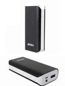 Refurbished INTEX 4000mAh Lithium-ion Power Bank/Fast Charging Power Bank 1 Output Power Bank Black