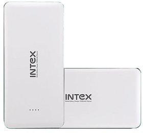 Refurbished INTEX 10000mAh Lithium-ion Power Bank/Fast Charging Power Bank 2 Output Power Bank White