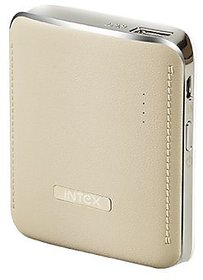 Refurbished INTEX 4400mAh Lithium-ion Power Bank/Fast Charging Power Bank 1 Output Power Bank Gold