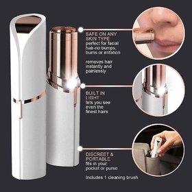 EXCLUSIVE NEW FLAWLESS Women's Painless Finishing Touch Facial And Body Hair Remover