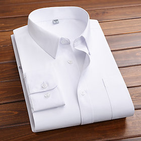 Frankline White Cotton Blend formal shirt