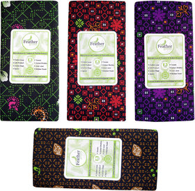 Fancy Polyester Printed Lungi Pack of 4 pcs