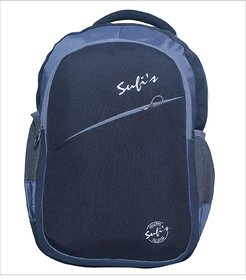 Sufi's Good Quality Black  Grey Backpack with Different Compartments