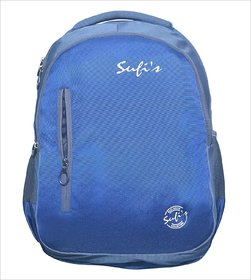 Sufi's Good Quality Backpack Blue  Grey with Different Compartments