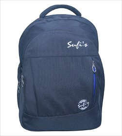 Sufi's Good Quality Black Backpack with Different Compartment