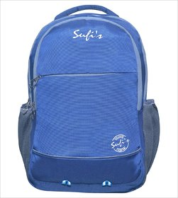 Sufi's Good Quality Blue  Grey Backpack with Different Compartments