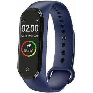 Bluetooth Wireless Fitness Tracker M4 Comfortable Band for Gymming, Running, Jogging, Playing, Etc