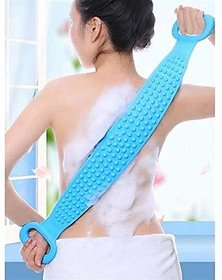 Silicone Body Scrubber Belt, Double Side Shower Exfoliating Belt Removes Bath Towel, Double Chopping Belt Scrubber Washe