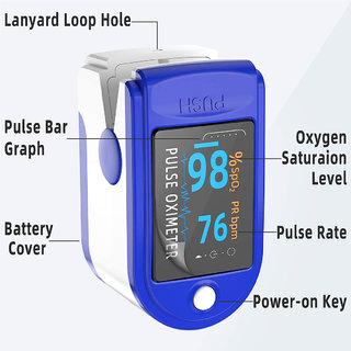 Plastic Branded Digital Pulse Oximeter
