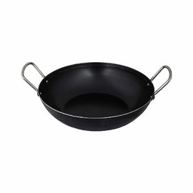 The Indus Valley Iron Kadai with Flat Base (Induction Friendly), 9.6 Inch, 2L