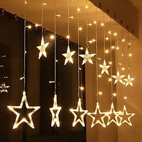 EXCLUISVE Star Shape Acrylic Light Curtain for Decoration, Yellow (Star Light)