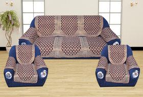 Manvi Creation Cotton Floral 5 Seater sofa cover with Arm Multi Color Set of 16pcs