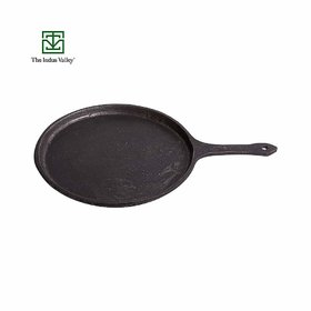 The Indus Valley Cast Iron Dosa Tawa with Handle  Pre-Seasoned / 10 Inch / 2.3kg